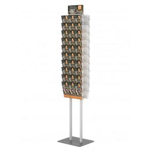 Składany stojak na ulotki dwustronny + 20 kieszeni A4 poziomo  art 375