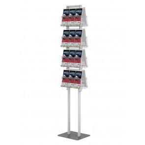 Składany stojak na ulotki dwustronny + 8 kieszeni A4 poziomo art 377