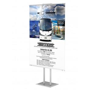 Składany wolnostojący prezenter plakatu z listwą plakatową B0 Art 514