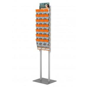 Składany stojak na ulotki + 6 kieszeni A4 poziomo (ulotki A4 A5 i DL )  Art 272 v6
