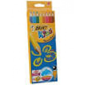 Kredki Bic Kids Supersoft Kolor ,trójkątne, 8 kolorów + temperówka