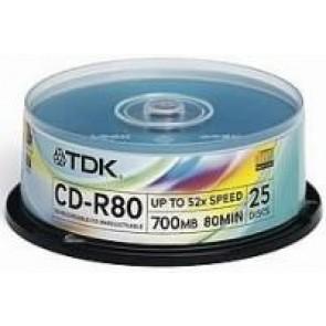 Płyty Tdk 700mb pudełko typu cake 25 szt.