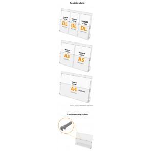 Kieszeń dodatkowa do stojaków w poziomie A4  Art 005