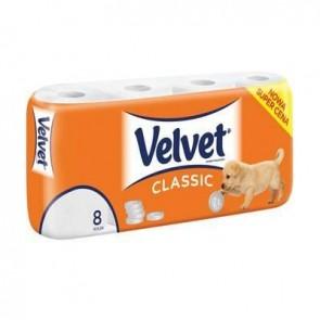 Papier toaletowy VELVET CLASSIC 8 rolek