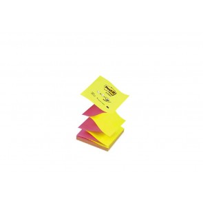 Bloczek samoprzylepny POST-IT Z-Notes 76x76mm żółto-rózówy