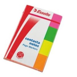 Zakładki indeksujące 20x50 4 kol.neon Contacta Esselte